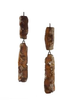 COCO DUNMIR-USA-Resin Collection       Wee Moonrocks I Earrings I 2009 I Resin, Pigment, Silver 925