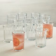 Set of 12 Large Working Glasses 21 oz. - Crate and Barrel