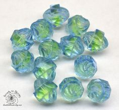 You will receive a lovely lot of stunning blue green Turbine Czech Glass Beads. x is an inch for reference Plus a surprise gift. Surprise Gifts, Czech Glass Beads, Blue Green, Auction, Crafts, Crafting, Diy Crafts, Craft, Arts And Crafts