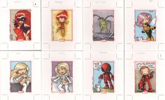marvel 70th anniversary cards2  by ~katiecookie