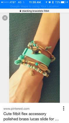 Bracelet stacking with Fitbit
