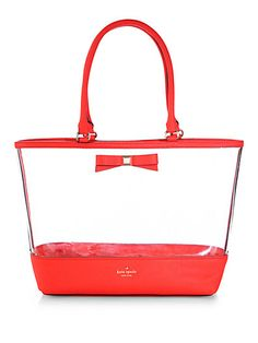 Loving this cute clear tote! Perfect for the pool or beach!