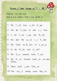 Sätze mit i und ie - AB 1-2