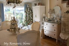 My Romantic Home: Christmas Decor Galore! - Show and Tell Friday