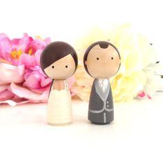 WEDDING CAKE TOPPER Cute Custom Kokeshi by CreativeButterflyXOX, $58.00