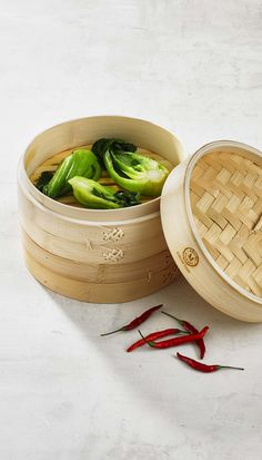 Martha knows the best kitchen tools pull double duty! Her bamboo steamer is a healthy way to cook vegetables and dumplings, and is great for storing onions and garlic when not in use! Shop the Martha Stewart Collection created for Macy's.