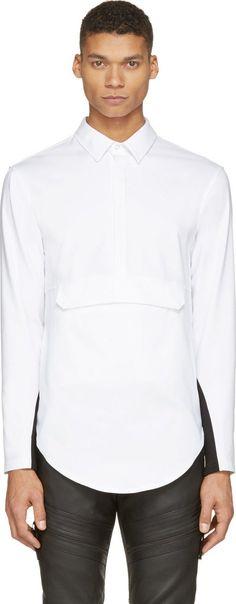 Pyer Moss White Odyssey Anorak Dress Shirt