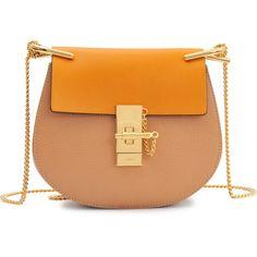 Chloé Drew Mini Chain Bag featuring polyvore fashion bags handbags shoulder bags clothing bolsas borse beige pocket purse miniature purse chain handbag chloe purses clasp purse