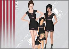 Mommy and Me Cap Sleeve Summer Sundress at Ny Girl Sims - Sims 3 Finds