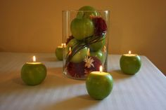 Decor Ideas with DIY Apple Candles!