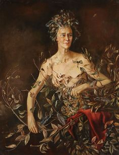 Leonor Fini - Portrait of Mrs. Hasellter (1942) - oil on canvas