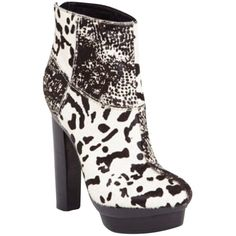 Pre-owned Rachel Zoe Pamela Boots ($157) ❤ liked on Polyvore featuring shoes, boots, none, pony hair shoes, rachel zoe boots, pre owned shoes, calf hair shoes and platform shoes