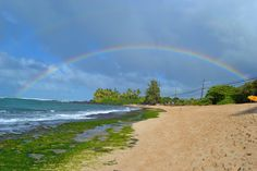 #northshore #rainbow #beach #hawaii #oahu #hi #DOUBLErainbow #ocean