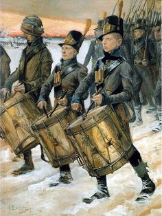 """Porilaisten marssi"" (Finnish Soldiers in the war of by Albert Edelfelt. The war was fought between Sweden and Russia and as a result, the eastern third of Sweden was established as the autonomous Grand Duchy of Finland within the Russian Empire. Helene Schjerfbeck, Ancient History, Art History, Prinz Eugen, Chur, Asatru, Musical, Gouache, Cool Photos"