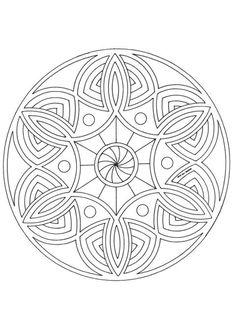 Un mandala très simple à colorier