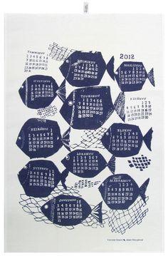 Tea towel calendar by Kauniste via covetgarden.com