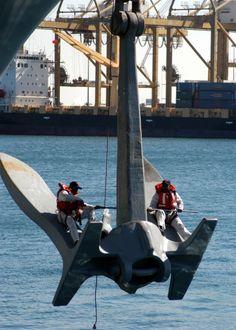 A last swim call with USS Enterprise Photos) Uss Enterprise Cvn 65, Us Navy, Trawler Boats, Tanker Ship, Ship Anchor, Navy Anchor, Marine Engineering, Merchant Marine, Tug Boats