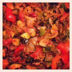 Day #284 - Sophie Dahl's ratatouille recipe with courgette. aubergine and red pepper