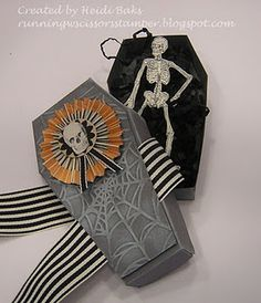 Halloween Inspiration by - Cards and Paper Crafts at Splitcoaststampers Halloween Goodie Bags, Halloween Boo, Halloween Cards, Holidays Halloween, Happy Halloween, Halloween Decorations, Pick Your Poison, Pattern Library, Basic Grey