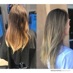 From a 6 month old balayage to soft, light and bright balayage highlight. Hello summer! ☀️
