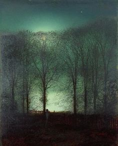 John Atkinson Grimshaw 'Figure in the Moonlight' Giclee Canvas Art by Trademark…