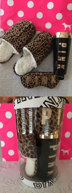 Mixed Items and Lots 15738: Victorias Secret Pink Coffe Mug, Fleece Slippers Large Sleep Mask Leopard - Nwt -> BUY IT NOW ONLY: $49.95 on eBay!