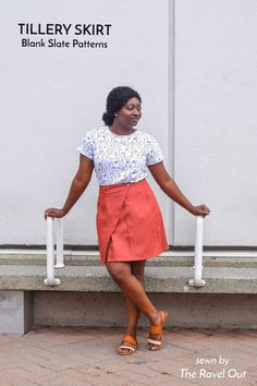 Tillery Skirt sewing pattern from Blank Slate Patterns sewn by The Ravel Out Skirt Sewing, Skirt Patterns Sewing, Sewing Projects, Sewing Ideas, Slate, Plus Size Outfits, Plus Size Women, What To Wear, High Waisted Skirt