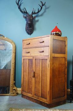 Art Deco Oak Tallboy - fantastic condition and craftsmanship - 125