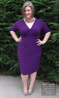 Julia Pleated Plus Size Dress