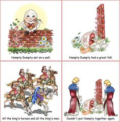 HUMPTY DUMPTY FABRIC BY THE METRE EGG KINGS HORSES MEN COTTON CUSHIONS BUNTING