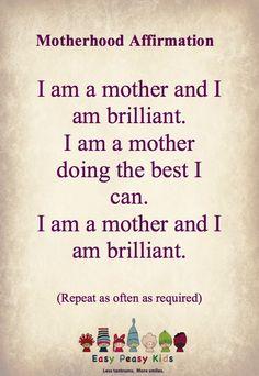 Motherhood Affirmation