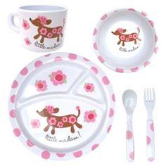 Disaster Designs 'Little Madam' Melamine Dining Set for girls.