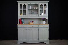 Pine Dresser in Moonstone-Painted Vintage, Antique & Farmhouse Furniture