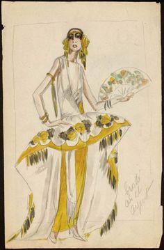paul poiret fashion sketch 1922
