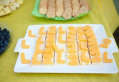 Sesame Street birthday party - Cheese and crackers