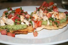 Chicken and Avocado Tostadas 2- tried it & it was FANTASTIC!  Diet or no diet, I will definitely be making this again.