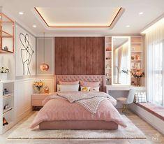 Luxury Bedroom Design, Room Design Bedroom, Girl Bedroom Designs, Room Ideas Bedroom, Home Room Design, Home Decor Bedroom, Stylish Bedroom, Modern Bedroom, Bedroom Decor For Teen Girls