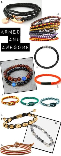 Mens Stackable Bracelet Styles for Summer. Armed and Awesome by Tiffany Pinero