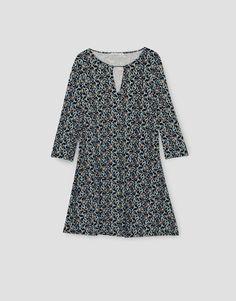 PRINTED 3/4 SLEEVE DRESS - DRESSES - WOMAN - PULL&BEAR Ukraine