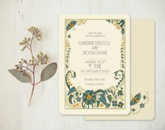 Vintage Wedding Invitations Save the Dates  Set of 100 by GoGoSnap, $85.00