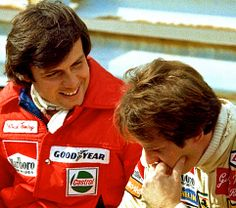 Patrick Tambay & Gilles Villeneuve. The best of friends and the perfect man to take over the #27 Ferrari after Gilles death.