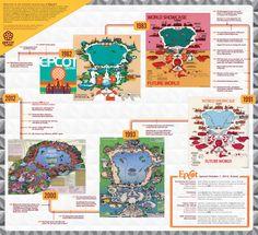 Epcot 30th Anniversary Theme Park Map - walt disney world - epcot center