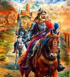 Russian noble knights on campaign