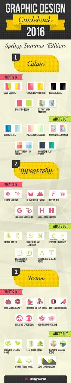 Graphic Design Guidebook 2016 | http://www.designmantic.com/blog/infographics/graphic-design-guidebook-2016/: