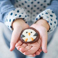 It's a Cookie Swap!     Melted Snowman CookiesEnter This Month's Pin to Win Sweepstakes!Thank you!: Slice-and-Bake Chocolate Penguins (via Parents.com)