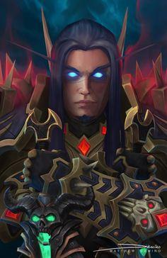 Blizzcon Badge - Mattaius by MattDeMino on DeviantArt World Of Warcraft Game, Warcraft Art, Wow Elf, Dark Tide, Lich King, Elf Art, Death Knight, Blood Elf, Heroes Of The Storm