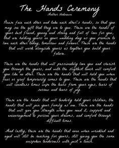 This would be so beautiful to be read after our vows. I'm tearing up reading this.