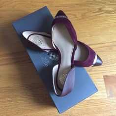 For Sale: Vince Camuto Burgundy Flats for $40