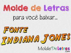 Molde de Letras Indiana Jones - Blog Molde de Letras