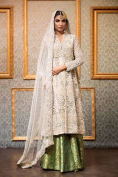 Annus Abrar Formal Wear Dresses Collection 2016 - She Beauties Pakistani Couture, Pakistani Wedding Dresses, Indian Couture, Pakistani Outfits, Indian Dresses, Indian Outfits, Pakistani Clothing, Wedding Hijab, Wedding Outfits